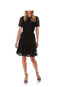 Yumi Stretchy Lace Skater Dress