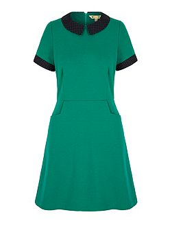 Polka Dot Collar Day Dress