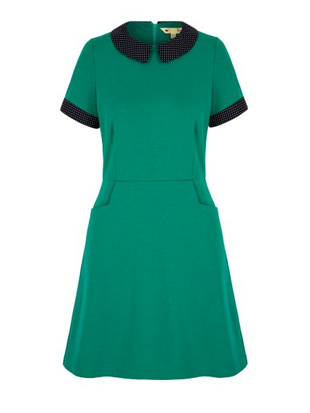 Yumi Polka Dot Collar Day Dress