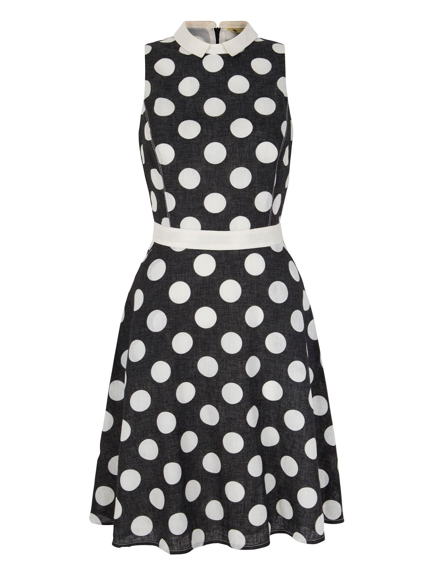 Yumi Polka Dot Shirt Dress, Black
