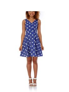 Yumi Polka Dot Print Day Dress