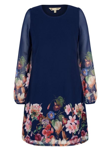 Yumi Botanical Floral Print Tunic Dress