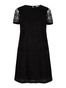 Yumi Paper Lace Shift Dress