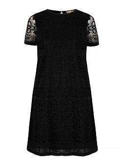 Paper Lace Shift Dress