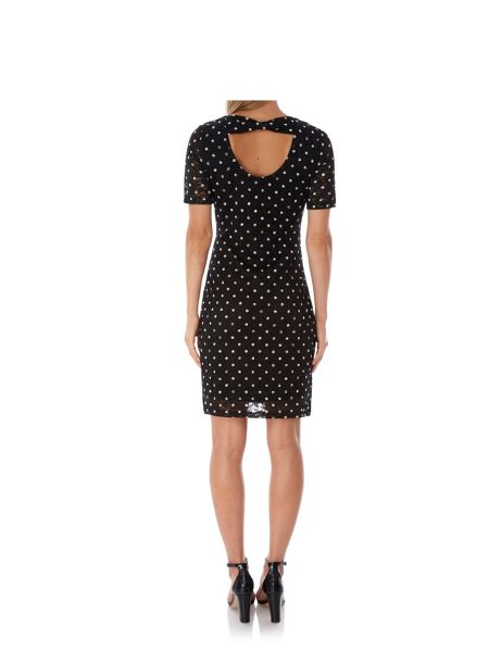 Yumi Polka Dot Lace Bodycon Dress