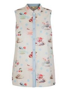 Yumi Tea and Macaroons Print Shirt