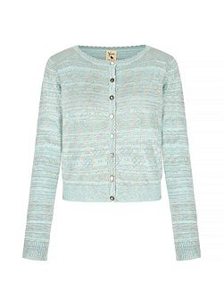 Long Sleeve Pointelle Cardigan