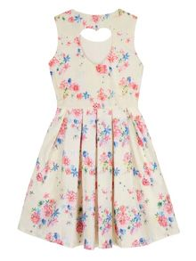 Yumi Girls Girls Vintage Floral Print Dress