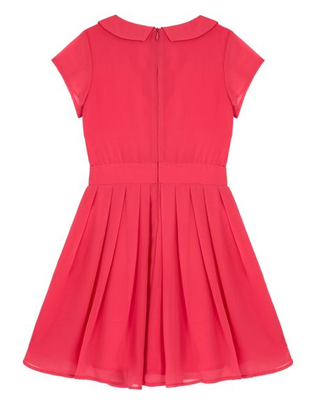 Yumi Girls Girls Embellished Collar Party Dress