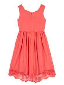 Yumi Girls Girls Borderie Anglaise Bow Day Dress