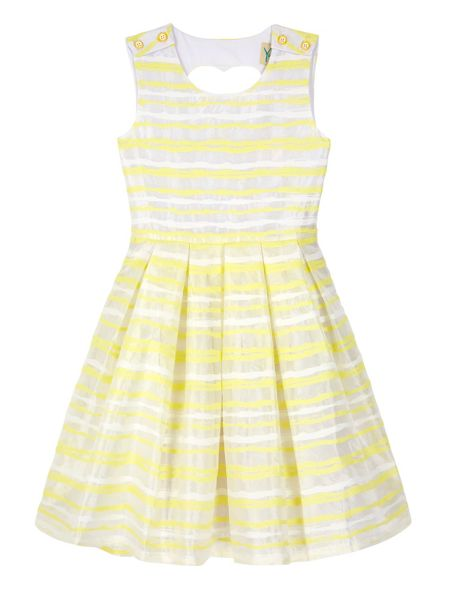 Yumi Girls Girls Stripe Heart Cut Out Dress