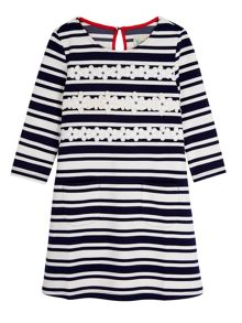 Yumi Girls Girls Stripe Daisy Shift Dress