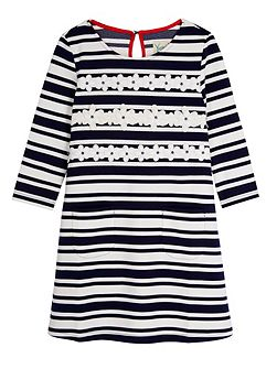 Girls Stripe Daisy Shift Dress