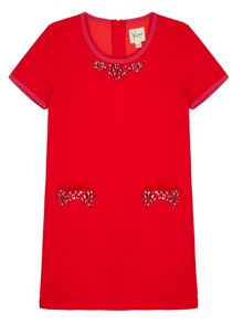 Yumi Girls Girls Embellished Shift Dress
