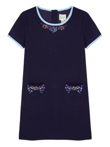 Girls Embellished Shift Dress