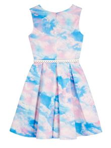 Yumi Girls Girls Cloud Print Day Dress