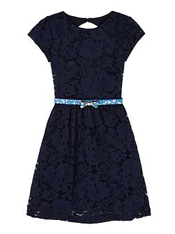 Girls Floral Lace Party Dress