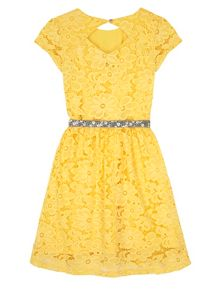 Yumi Girls Girls Floral Lace Party Dress