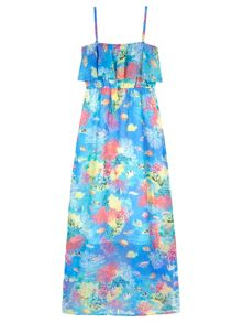 Yumi Girls Girls Underwater Print Maxi Dress