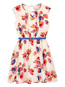 Girls Tulip Print Day Dress