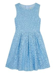 Yumi Girls Girls Sequin Embellished Lace Dress