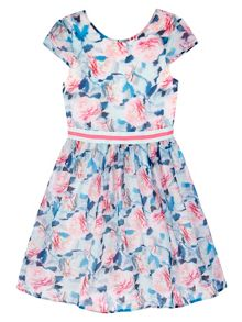 Yumi Girls Girls Floral Print Skater Dress