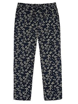 Girls Ditsy Floral Print Trousers