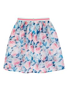 Yumi Girls Girls Floral Print High Low Skirt