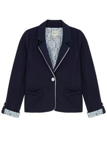 Yumi Girls Girls Lace Lined Blazer