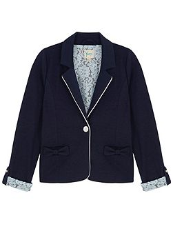 Girls Lace Lined Blazer
