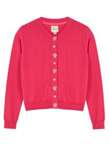 Yumi Girls Girls Embellished Button Cardigan