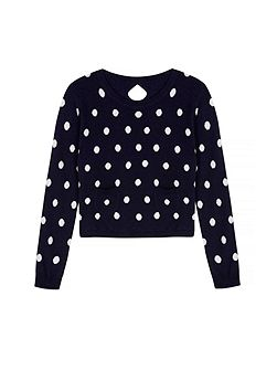 Girls Polka Dot Print Jumper