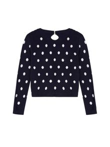 Yumi Girls Girls Polka Dot Print Jumper