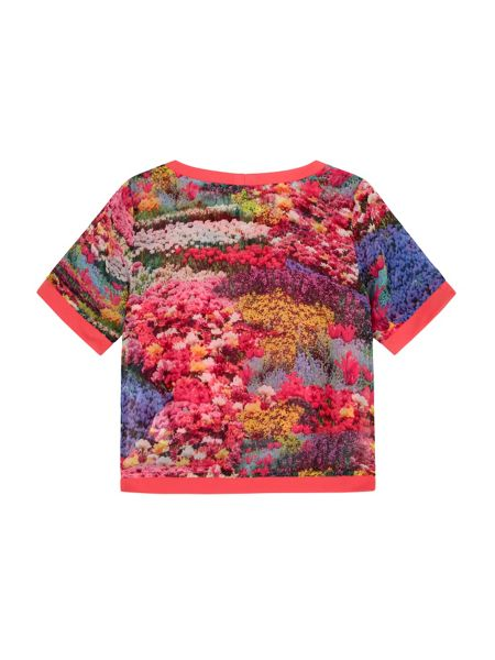Yumi Girls Girls Floral Meadow Print Top