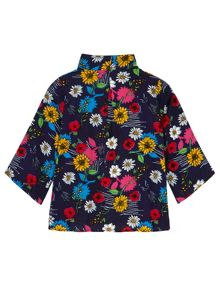 Yumi Girls Girls Floral Print Kimono and Vest Top