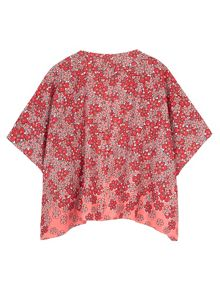 Yumi Girls Girls Floral Kimono and Crochet Top