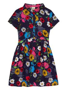 Yumi Girls Girls Floral Print Shirt Dress