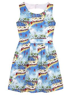 Girls South of France Skater Dress
