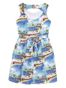 Yumi Girls Girls South of France Skater Dress