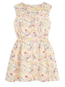 Yumi Girls Girls Confetti Floral Print Day Dress