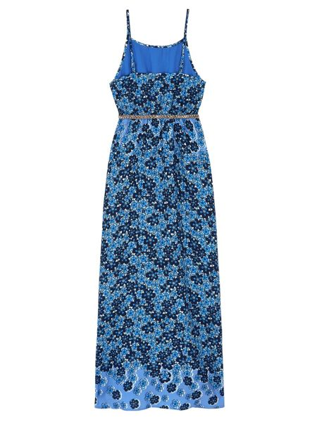 Yumi Girls Girls Fading Floral Print Maxi Dress