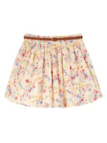 Girls Confetti Floral Print Skirt