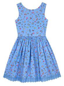 Yumi Girls Girls Seaside Pier Print Day Dress
