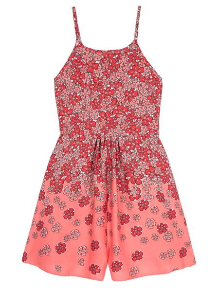 Yumi Girls Girls Floral Print Playsuit