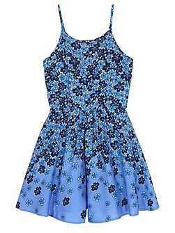 Girls Floral Print Playsuit
