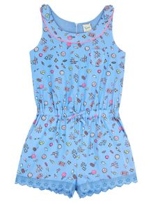 Yumi Girls Girls Pier Print Playsuit