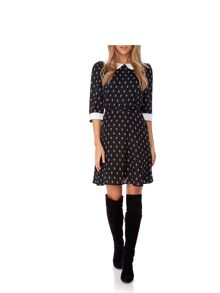 Yumi Arrow Print Collar Dress