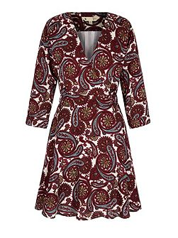 Arrow Print Wrap Dress