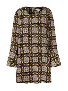 Butterfly Print Tunic Dress