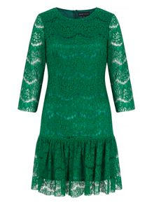 Mela Loves London Lace Peplum Shift Dress